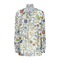 Tory Burch Haley Floral Silk Blouse