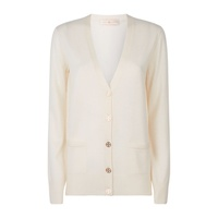 Tory Burch Madeline Wool Logo Button Cardigan