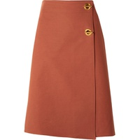 Tory Burch Ruth stretch cotton-blend wrap skirt