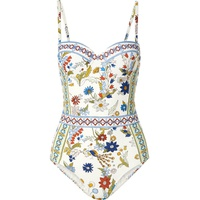 Tory Burch Meadow Folly printed underwired swimsuit