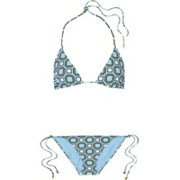 Tory Burch Geo printed triangle bikini