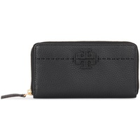 Tory Burch McGraw black tumbled leather wallet Black