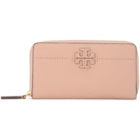 Tory Burch modello McGraw sand tumbled leather wallet Pink