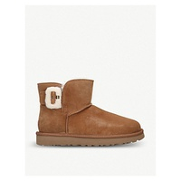 UGG Bailey mini fluff buckle sheepskin boots
