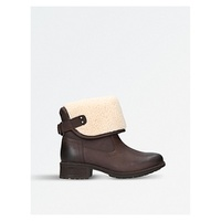 UGG Aldon wool-cuff leather boots