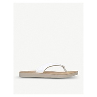 UGG Tawney leather flip-flops