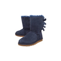 UGG Bailey Bow Calf Boots, Navy Suede