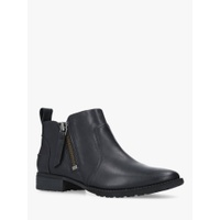 UGG Aureo Zip Ankle Boots, Black Leather