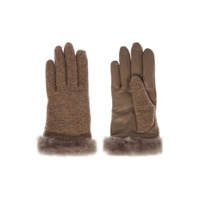 UGG Fabric And Leather Shorty Glove