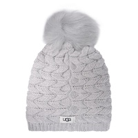 Ugg Cable Knit Pom Beanie Hat