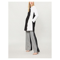 VALENTINO Scalloped monochrome wool and cashmere-blend coat