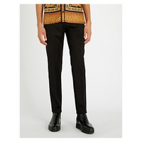 VERSACE Slim-fit tapered wool trousers