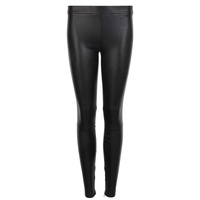Zip Ankle Leather Leggings