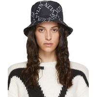 Black & White Valentino Garavani 'VLTN' Bucket Hat