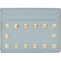 Blue Valentino Garavani Rockstud Card Holder