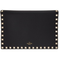 Black Valentino Garavani Medium Rockstud Wallet