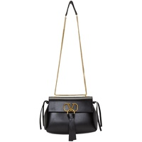 Black Valentino Garavani Small VRing Chain Shoulder Bag