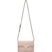 Pink Valentino Garavani Small Rockstud Shoulder Bag