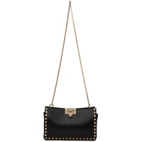 Black Valentino Garavani Small Rockstud Clutch Bag