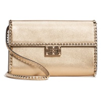 VALENTINO GARAVANI Rockstud No Limit Metallic Leather Shoulder Bag