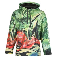VALENTINO Red Dragon Over The Head Hoodie