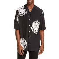 VERSACE First Line Medusa Head Short Sleeve Button-Up Bowling Shirt