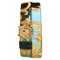 VERSACE Medusa Buckle Printed Leather Belt