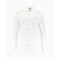 Vivienne Westwood - Chest Orb 2 Button Collar Shirt - White