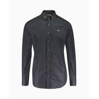 Vivienne Westwood - Chest Orb 2 Button Collar Shirt - Black