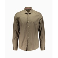 Wilson Border & Co - Cut Away Collar Long Sleeve Shirt - Khaki