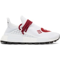 White & Red Human Made Edition Hu NMD Sneakers