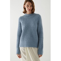 ALPACA-WOOL MIX MINIMAL CABLE KNIT JUMPER
