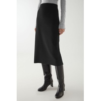 BOILED WOOL TUBE MIDI SKIRT