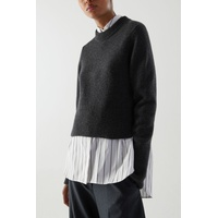 RECYCLED CASHMERE-WOOL MIX CROPPED JUMPER
