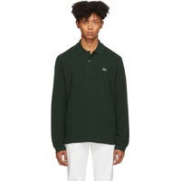 Green Classic Long Sleeve Polo