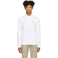 White Classic Long Sleeve Polo