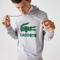 Men's Hooded Fleece Sweatshirt With Printed Logo