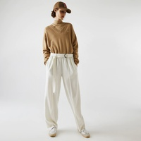 Women's High-Waisted Flared Wool Blend Pants