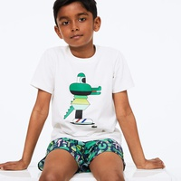 Boys' Lacoste x Jeremyville Graphic Crew Neck Cotton T-shirt