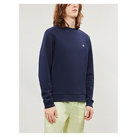 LACOSTE Logo-embroidered cotton-blend jersey sweatshirt