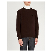LACOSTE Logo-embroidered wool jumper