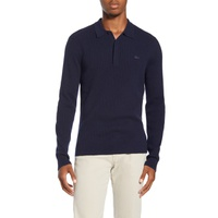 LACOSTE Rib Long Sleeve Polo Sweater