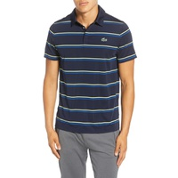 LACOSTE Regular Fit Stripe Golf Polo