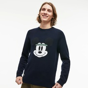 Lacoste Mens Crew Neck Disney Mickey Embroidery Interlock Sweater