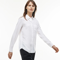 Lacoste Womens Regular Fit Cotton Twill Shirt