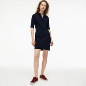 Lacoste Womens Slim Fit Stretch Mini Pique Polo Dress