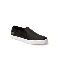 Lacoste Womens Gazon Leather Slip-ons