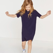 Lacoste Girls Paneled Cotton Polo Dress