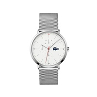 Lacoste Mens Moon Multifunction Watch with Stainless Steel Mesh Band Strap