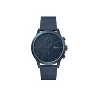 Gents Lacoste.12.12 Watch with Blue Leather Petit Pique Strap